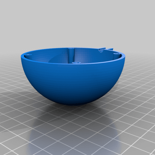 sensor_sphere_bottom_v2.png Download free STL file Temperature, humidity, lux meter with LAN • 3D print model, marigu