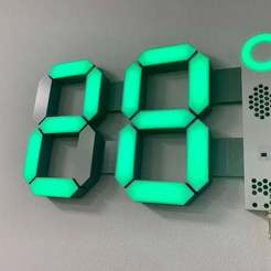 IMG_5851.jpg Download free STL file Big 7 Segment Custom display • 3D printable template, marigu