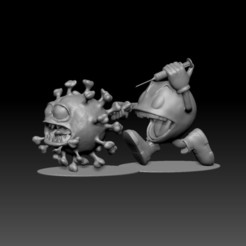 PACYCOV1.jpg Download STL file PacMan vs Covid-19 • Design to 3D print, lucianonster