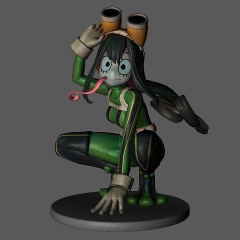 Download free 3D printer designs Tsuyu Atsui My Hero Academia, quezadaandres0510