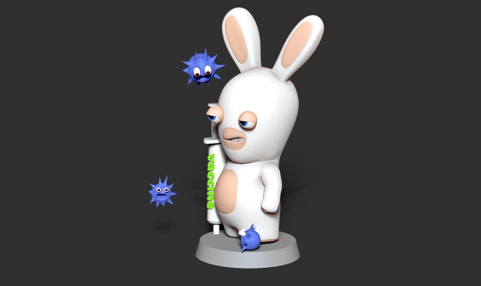Top2.jpg Télécharger fichier STL gratuit Lapins crétins • Design imprimable en 3D, nlsinh