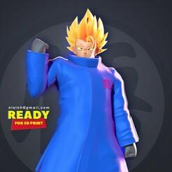 Goku_Blue_Jacket_thumb.jpg Télécharger fichier STL Goku en veste bleue • Objet pour imprimante 3D, nlsinh