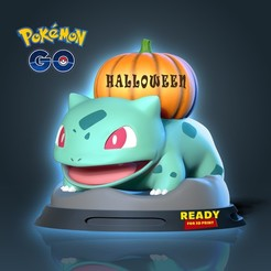 Bullbasaur2.jpg Download STL file Bulbasaur - Pokemon Fanart • 3D printable model, nlsinh