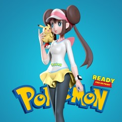 Rosa_master_thumbnail.jpg Download STL file Rosa - Pokemon Masters Fanart • 3D printer design, nlsinh