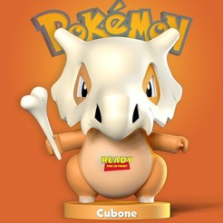 Download 3D print files Cubone - Pokemon Fanart, nlsinh