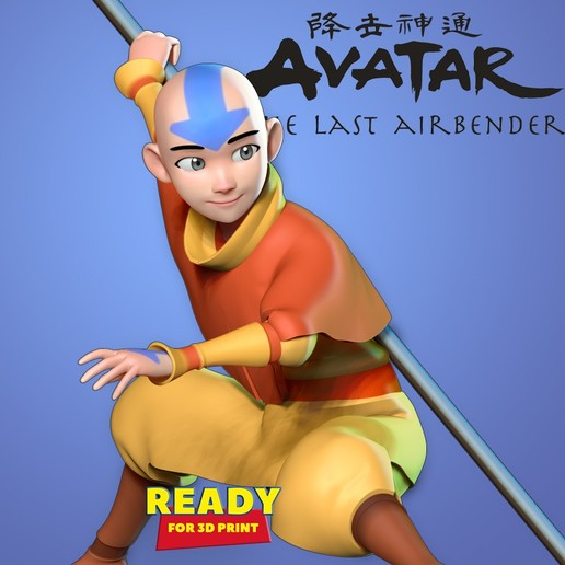 Descargar Archivo Stl Avatar El Ultimo Maestro Aire Plan Para Imprimir En 3d Cults