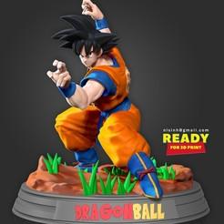 SonGoku_RTF.jpg Télécharger fichier STL Son Goku - Prêt à se battre • Modèle à imprimer en 3D, nlsinh