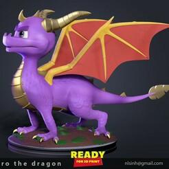 Sypro_3D.jpg Download STL file Spyro the Dragon Fanart • 3D print design, nlsinh