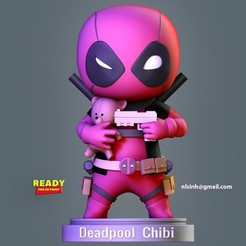Deadpool_Chibi_fix.jpg Download STL file Deadpool Chibi  • 3D printer template, nlsinh