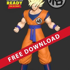 Download free 3D model Super Saiyan Goku, nlsinh
