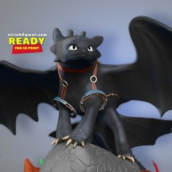 Toothless_thumbnail.jpg Download STL file Toothless  Fanart • 3D printable template, nlsinh