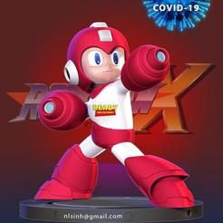 Megaman_3d_thumbnail.jpg Download STL file Megaman vs Covid - 19 • 3D printing design, nlsinh