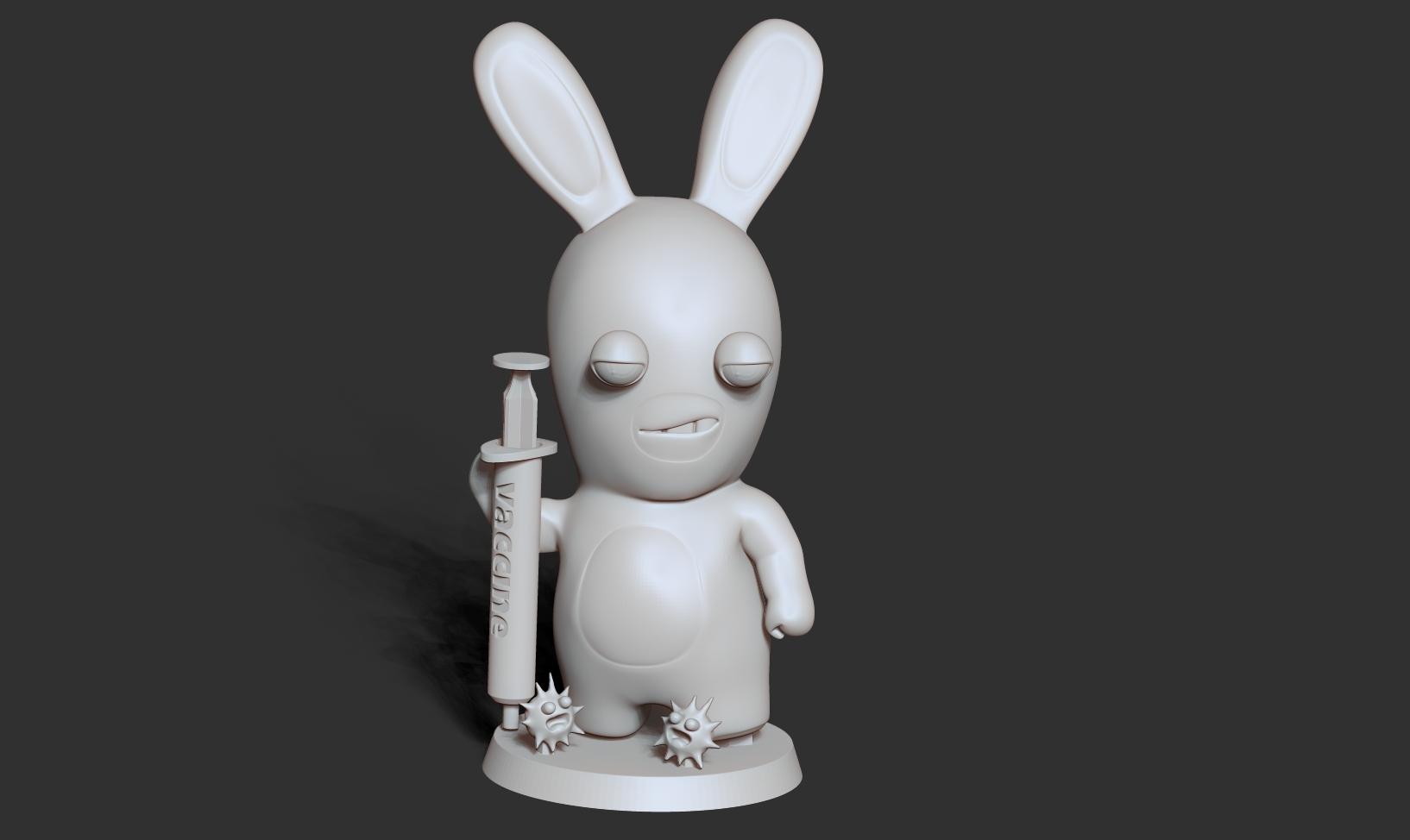 Top1_bw.jpg Télécharger fichier STL gratuit Lapins crétins • Design imprimable en 3D, nlsinh