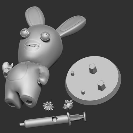 Print3D_2.jpg Télécharger fichier STL gratuit Lapins crétins • Design imprimable en 3D, nlsinh