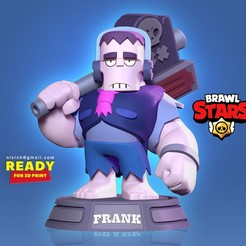 Frank_BS.jpg Download STL file Frank - Brawl Stars Fan art • 3D printer object, nlsinh