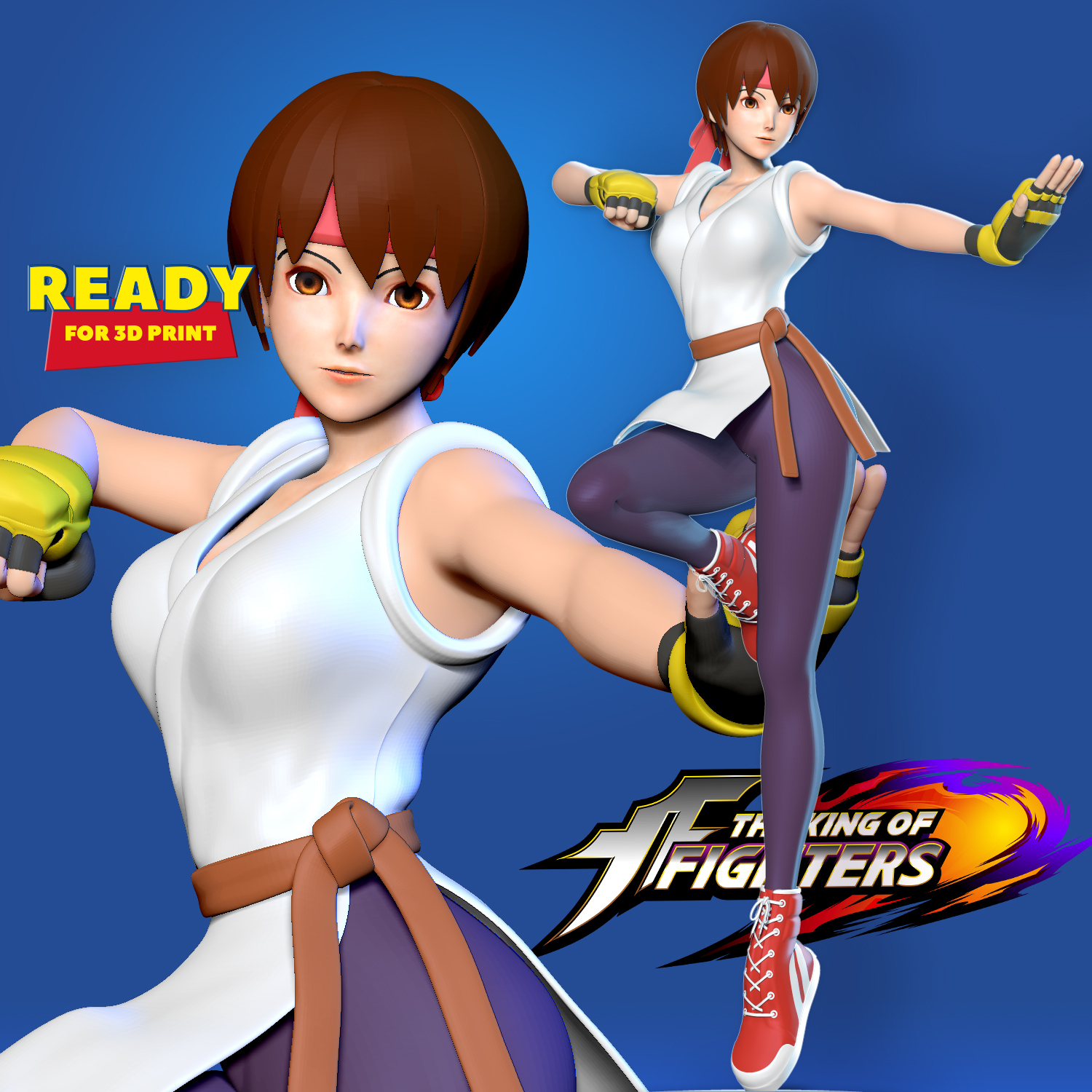 yuri sakazaki (the king of fighters and 2 more) drawn by