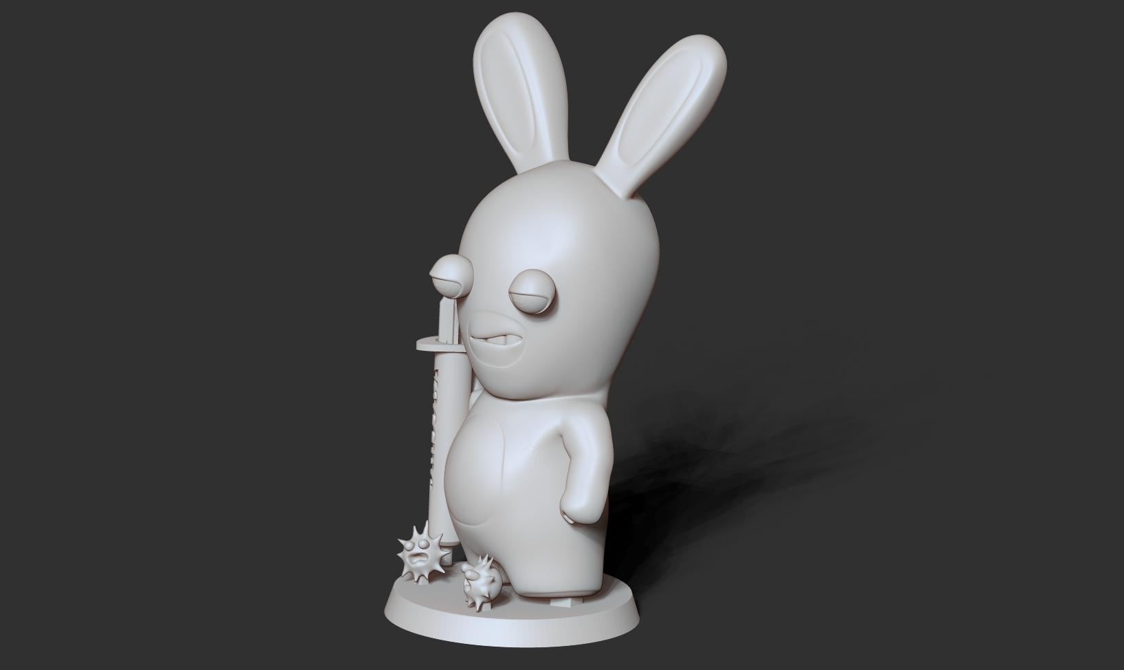 Top2_bw.jpg Télécharger fichier STL gratuit Lapins crétins • Design imprimable en 3D, nlsinh