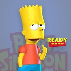Bart_3d_thumbnail.jpg Télécharger fichier STL Bart Simpson • Modèle imprimable en 3D, nlsinh
