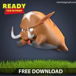 Download free 3D printer files Stylized boar Free, nlsinh