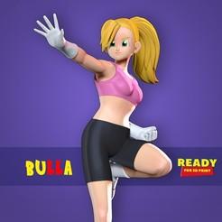 Bulla_thumbnail.jpg Download STL file Bulla - Dragon Ball Super Fanart • Template to 3D print, nlsinh
