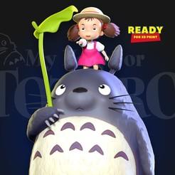 Totoro_Mei_thumbnail.jpg Download STL file My Neighbor Totoro Fanart • Object to 3D print, nlsinh