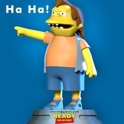 Nelson.jpg Télécharger fichier STL Nelson Muntz - Les Simpsons Fan art • Design imprimable en 3D, nlsinh