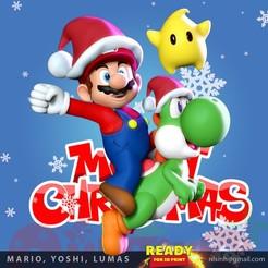 MarioFanart_thumbnail.jpg Télécharger fichier STL Mario - Yoshi - Lumas - Fanart • Plan pour imprimante 3D, nlsinh