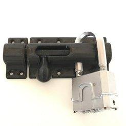 Fichier 3D gratuit Boulon de porte verrouillable, jps4you