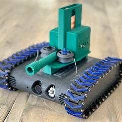 Télécharger fichier 3D gratuit Lanceur de fléchettes Nerf pour le FPV-Rover, Markus_p