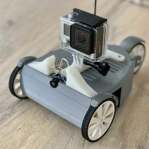 Download free 3D printer designs RC FPV-Trike with rear