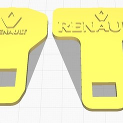 Renault Seatbelt..jpg Download STL file Renault Seatbelt Buckle • 3D printable template, 3DDDPrinting