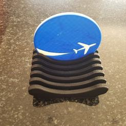 Airplane Coaster...jpg Download STL file Airplane Coaster Set • 3D printing object, 3DDDPrinting