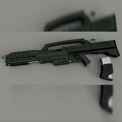morita 1.jpg Télécharger fichier STL Soldats du vaisseau spatial Morita Rifle • Modèle pour impression 3D, 3dpropsandreplicas