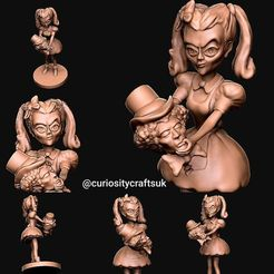 Download 3D printing models Alice with decapitated Mad Hatter , 3dpropsandreplicas