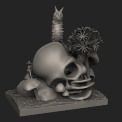 Download 3D printing files Absolem Creepy Alice in Wonderland Scene, 3dpropsandreplicas