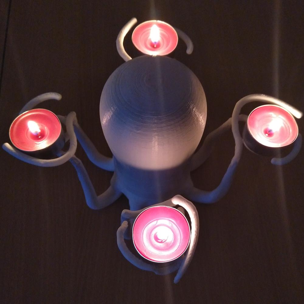 2.jpg Download STL file Candle holder octopus • 3D printer design, Sceadugenga