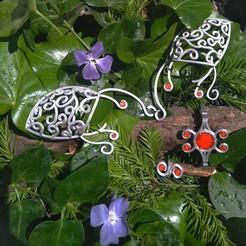 2.jpg Download STL file Elvish style jewellery set • 3D printing design, Sceadugenga