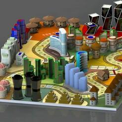 1.jpg Download STL file Hotel board game 2-10 person • 3D printer model, Sceadugenga