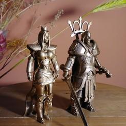reina humana.jpg Download OBJ file Ajedrez Medieval - Reina • 3D printing template, EnkilRivera