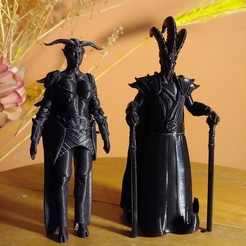 reina demonio.jpg Download OBJ file Ajedrez Medieval - Reina Demonio • Object to 3D print, EnkilRivera