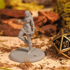 Download free 3D printing files Wood Elf - Tabletop Miniature, M3DM