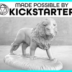 Descargar modelos 3D gratis León - Pose de acción - Miniatura de mesa, M3DM