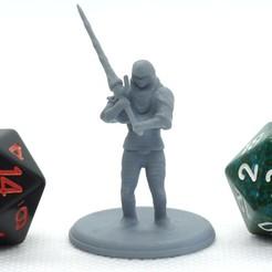 Greatsword_Warrior_1.JPG Télécharger fichier STL gratuit Guerrier à la Grande Épée - Miniature de table • Objet à imprimer en 3D, M3DM