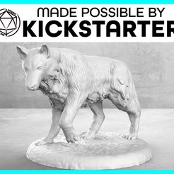 Wolf_Casual_Ad_Graphic-01-01-01.jpg Download free STL file Wolf - Casual Pose - Tabletop Miniature • 3D printing design, M3DM