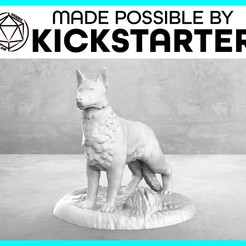 Dog_Casual_Ad_Graphic-01-01.jpg Download free STL file Dog - Casual Pose - Tabletop Miniature • 3D printer model, M3DM