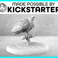 Raven_Action_Ad_Grraphic-01.jpg Download free STL file Raven - Action Pose - Tabletop Miniature • 3D printing template, M3DM