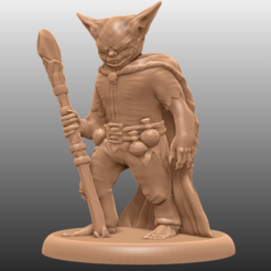 B1.png Download free STL file Goblin Caster - Tabletop Miniature • 3D print object, M3DM