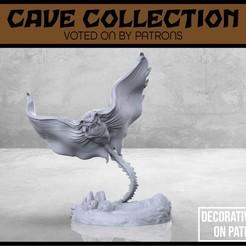 Descargar Modelos 3D para imprimir gratis Murciélago de la Cueva de la Manta - Versión 2 - Miniatura de mesa, M3DM