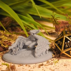 Harpy (1).JPG Download STL file Harpy - Tabletop Miniature • 3D printer design, M3DM