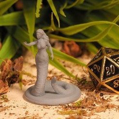 Download free 3D printer files Yuan-Ti Medusa - Tabletop Miniature, M3DM